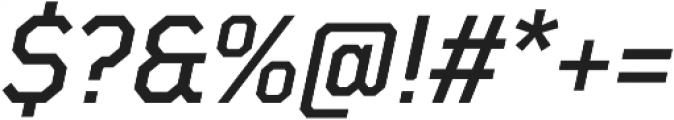 TT Mussels Medium Italic otf (500) Font OTHER CHARS