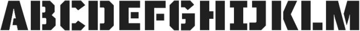 TT Mussels Stencil Black otf (900) Font UPPERCASE