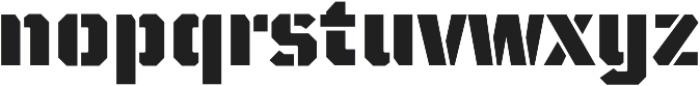 TT Mussels Stencil Black otf (900) Font LOWERCASE