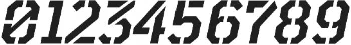 TT Mussels Stencil DemiBold Italic otf (600) Font OTHER CHARS