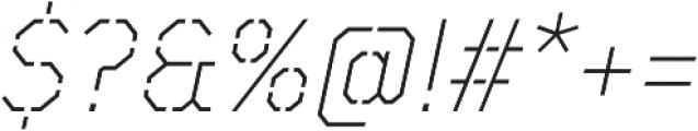TT Mussels Stencil ExtraLight Italic otf (200) Font OTHER CHARS