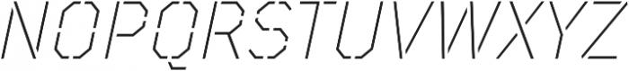 TT Mussels Stencil ExtraLight Italic otf (200) Font UPPERCASE