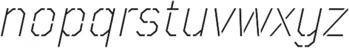 TT Mussels Stencil ExtraLight Italic otf (200) Font LOWERCASE