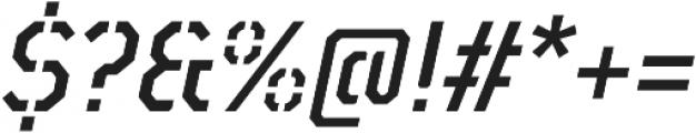 TT Mussels Stencil Medium Italic otf (500) Font OTHER CHARS