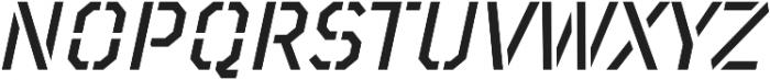 TT Mussels Stencil Medium Italic otf (500) Font UPPERCASE