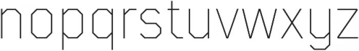 TT Mussels Thin otf (100) Font LOWERCASE
