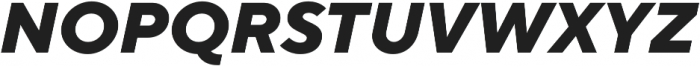 TT Norms ExtraBold Italic otf (700) Font UPPERCASE