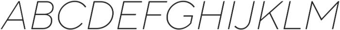 TT Norms ExtraLight Italic otf (200) Font UPPERCASE