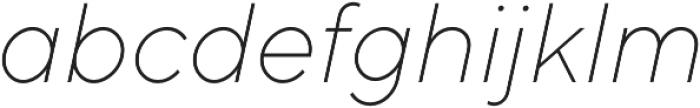 TT Norms ExtraLight Italic otf (200) Font LOWERCASE