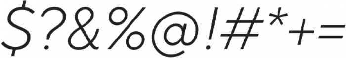 TT Norms Light Italic otf (300) Font OTHER CHARS