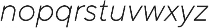 TT Norms Light Italic otf (300) Font LOWERCASE