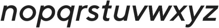 TT Norms Medium Italic otf (500) Font LOWERCASE