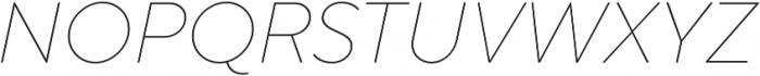 TT Norms Thin Italic otf (100) Font UPPERCASE