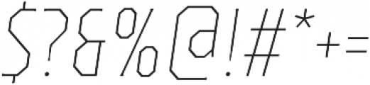 TT Octas Thin Italic otf (100) Font OTHER CHARS