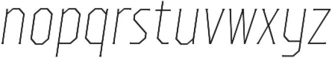 TT Octas Thin Italic otf (100) Font LOWERCASE