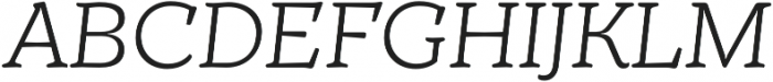 TT Phobos Light Italic otf (300) Font UPPERCASE