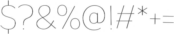 TT Pines Thin otf (100) Font OTHER CHARS