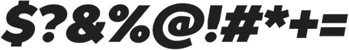 TT Prosto Sans Black Italic otf (900) Font OTHER CHARS
