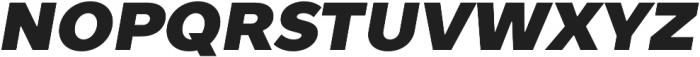 TT Prosto Sans Black Italic otf (900) Font UPPERCASE