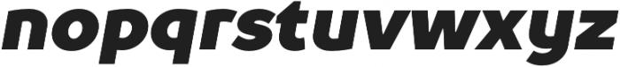 TT Prosto Sans Black Italic otf (900) Font LOWERCASE