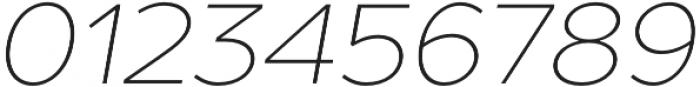 TT Prosto Sans Thin Italic otf (100) Font OTHER CHARS