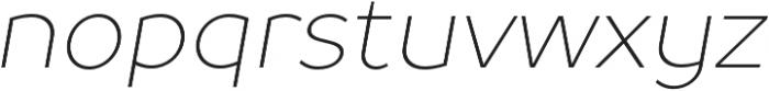 TT Prosto Sans Thin Italic otf (100) Font LOWERCASE