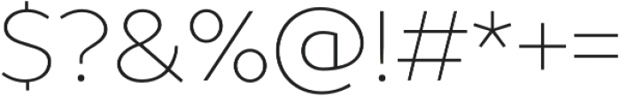 TT Prosto Sans Thin otf (100) Font OTHER CHARS