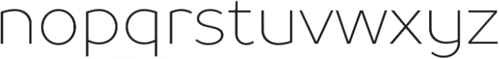 TT Prosto Sans Thin otf (100) Font LOWERCASE