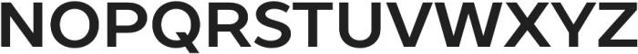 TT Prosto Sans otf (700) Font UPPERCASE