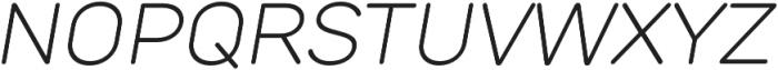 TT Rounds Light Italic otf (300) Font UPPERCASE