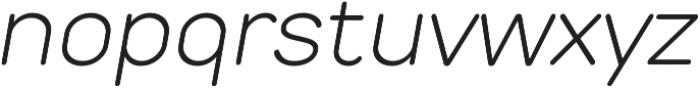 TT Rounds Light Italic otf (300) Font LOWERCASE