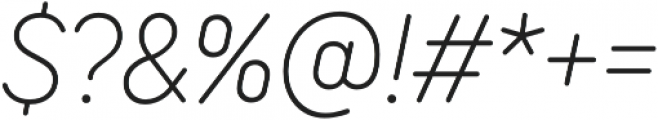 TT Rounds Neue Condensed ExtraLight Italic otf (200) Font OTHER CHARS