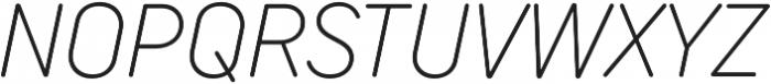 TT Rounds Neue Condensed ExtraLight Italic otf (200) Font UPPERCASE