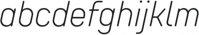 TT Rounds Neue Condensed ExtraLight Italic otf (200) Font LOWERCASE