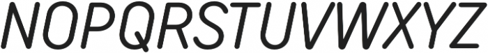 TT Rounds Neue Condensed Italic otf (400) Font UPPERCASE