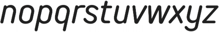 TT Rounds Neue Condensed Italic otf (400) Font LOWERCASE