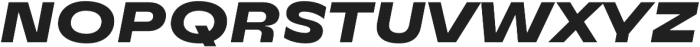 TT Runs ExtraBold Italic otf (700) Font UPPERCASE