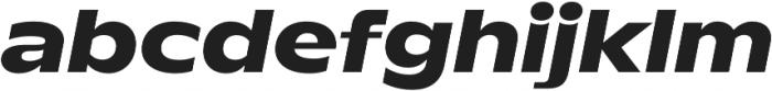 TT Runs ExtraBold Italic otf (700) Font LOWERCASE