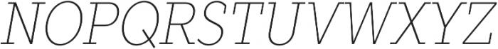 TT Slabs Condensed Thin Italic otf (100) Font UPPERCASE