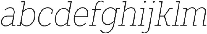 TT Slabs Condensed Thin Italic otf (100) Font LOWERCASE