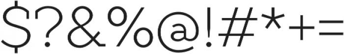 TT Slabs Thin otf (100) Font OTHER CHARS