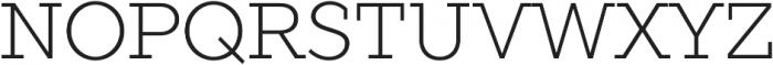 TT Slabs Thin otf (100) Font UPPERCASE