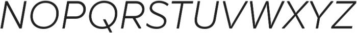 TT Smalls Light Italic otf (300) Font UPPERCASE