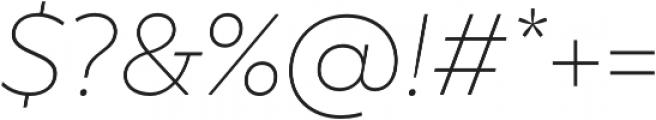 TT Smalls Thin Italic otf (100) Font OTHER CHARS