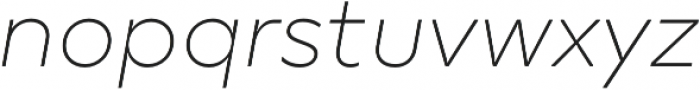 TT Smalls Thin Italic otf (100) Font LOWERCASE