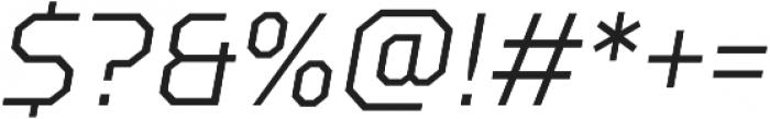 TT Squares Condensed Light Italic otf (300) Font OTHER CHARS