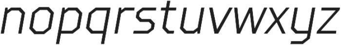 TT Squares Condensed Light Italic otf (300) Font LOWERCASE