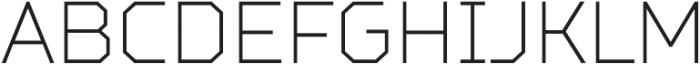 TT Squares Condensed Thin otf (100) Font UPPERCASE