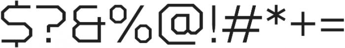 TT Squares Light otf (300) Font OTHER CHARS