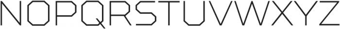 TT Squares Thin otf (100) Font UPPERCASE